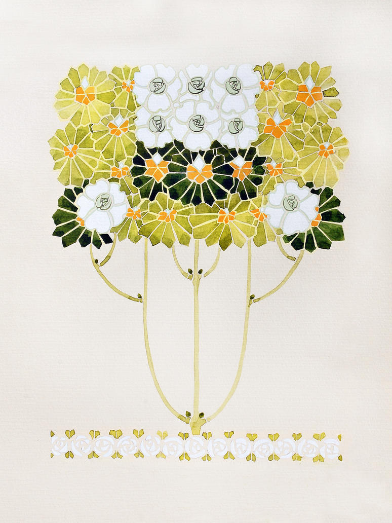 Art Nouveau Flowers 1 by natalia-virlan