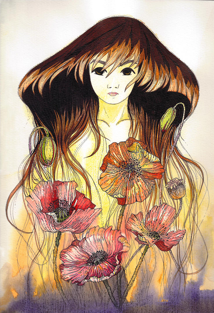 Self-portrait: poppyflowers by natalia-virlan