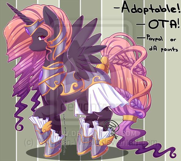 Adoptable: Alicorn Princess - CLOSED by Pixie-van-Winkle