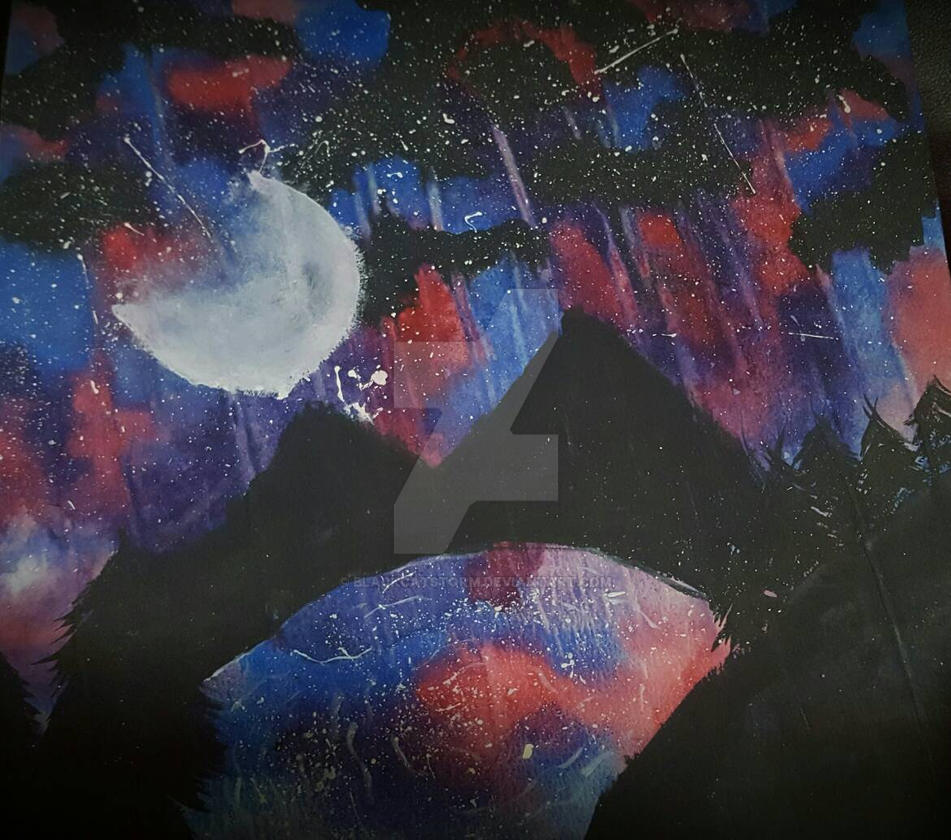 Galaxy watercolor by blackcatstorm