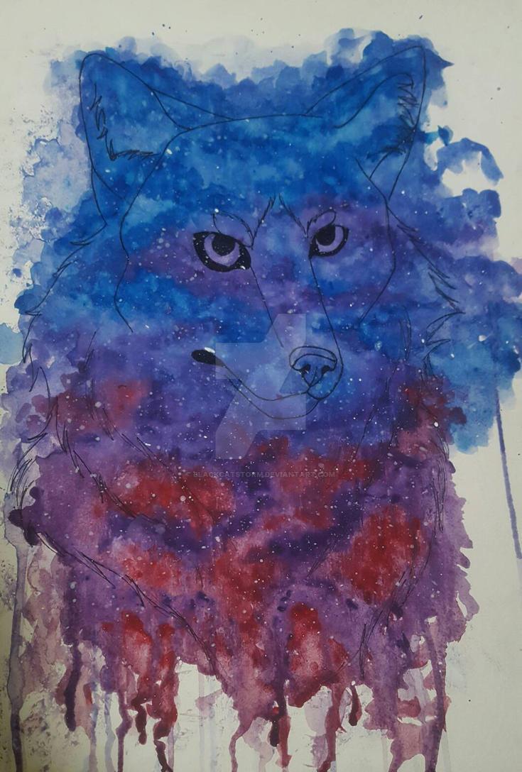 Galaxy doggo by blackcatstorm