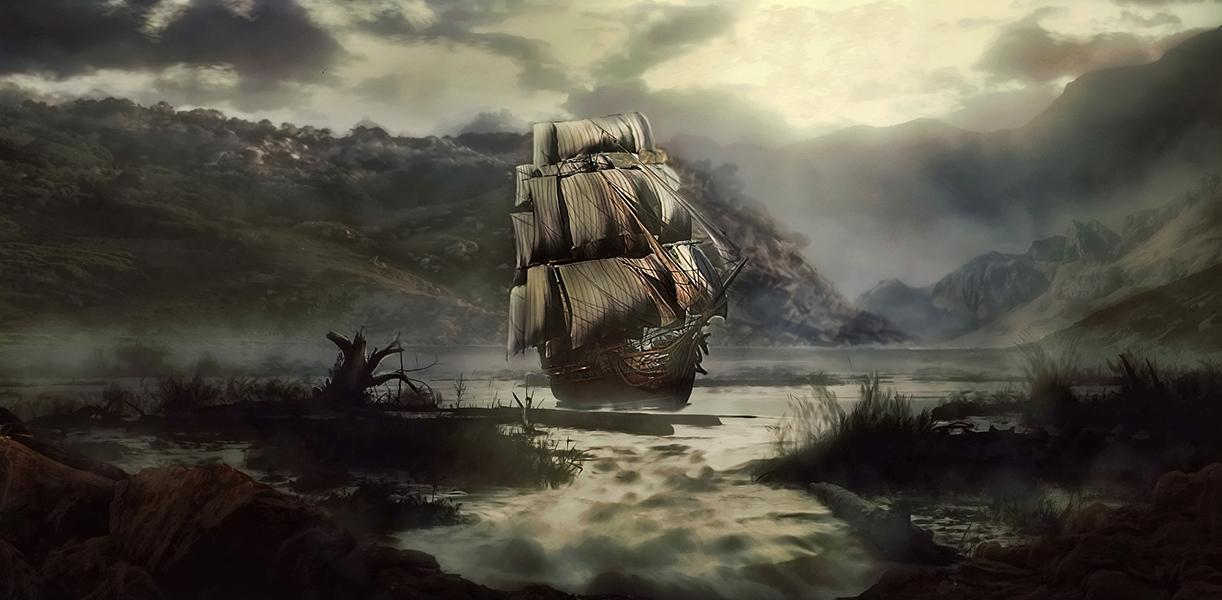 ghost ship by haxxerdesign on deviantart