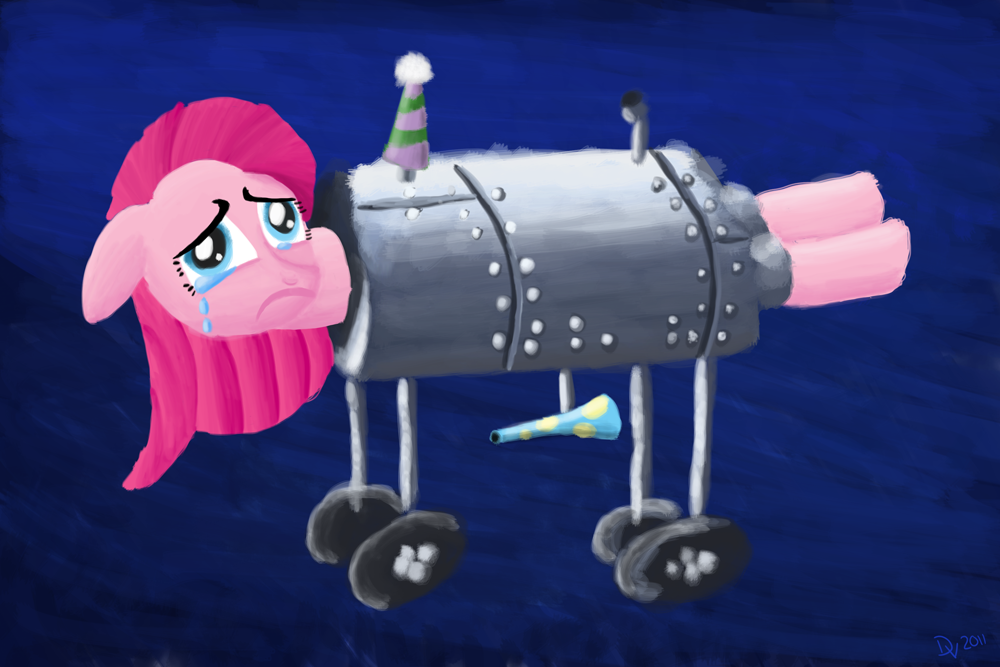 Sad Pinkie Pie In An Iron Lung by kefkafloyd