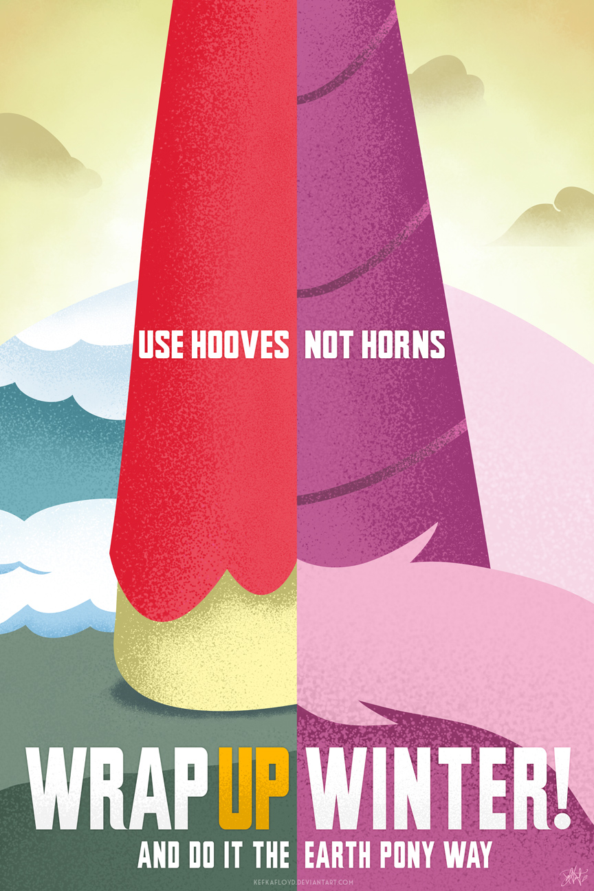 Use Hooves, Not Horns - Wrap Up Winter by kefkafloyd