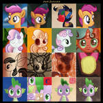 Cutie Mark Crusaders (and Spike) - Face Dances