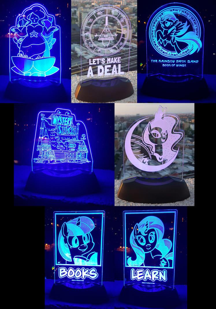 Laser Light Stands! by kefkafloyd