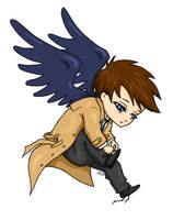 Cas and his shoes by x-Uchiwa-x