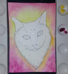 Moon cat - work in progress by CaptainBeth