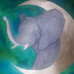 Elephant work in progress by CaptainBeth
