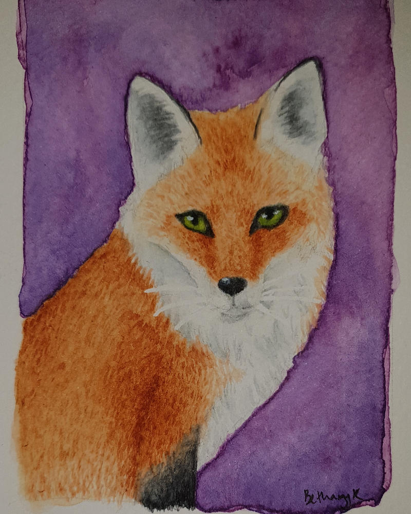 Cute fox aceo by CaptainBeth