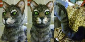 Realistic Cat Fursuit head