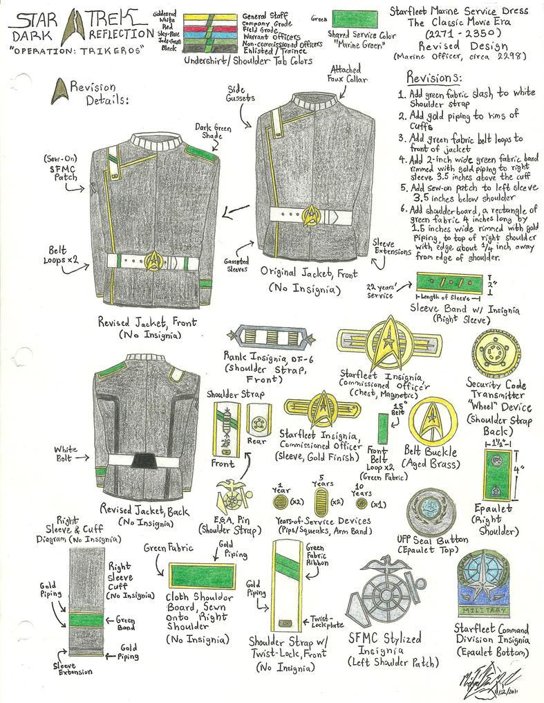 Starfleet Marine Corps Uniform Variant by galaxy1701d
