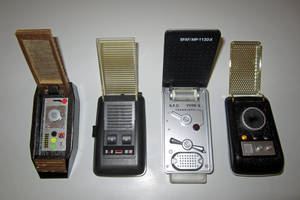 A Lineage of Flip-Top Communicators (Grids Opened) by galaxy1701d
