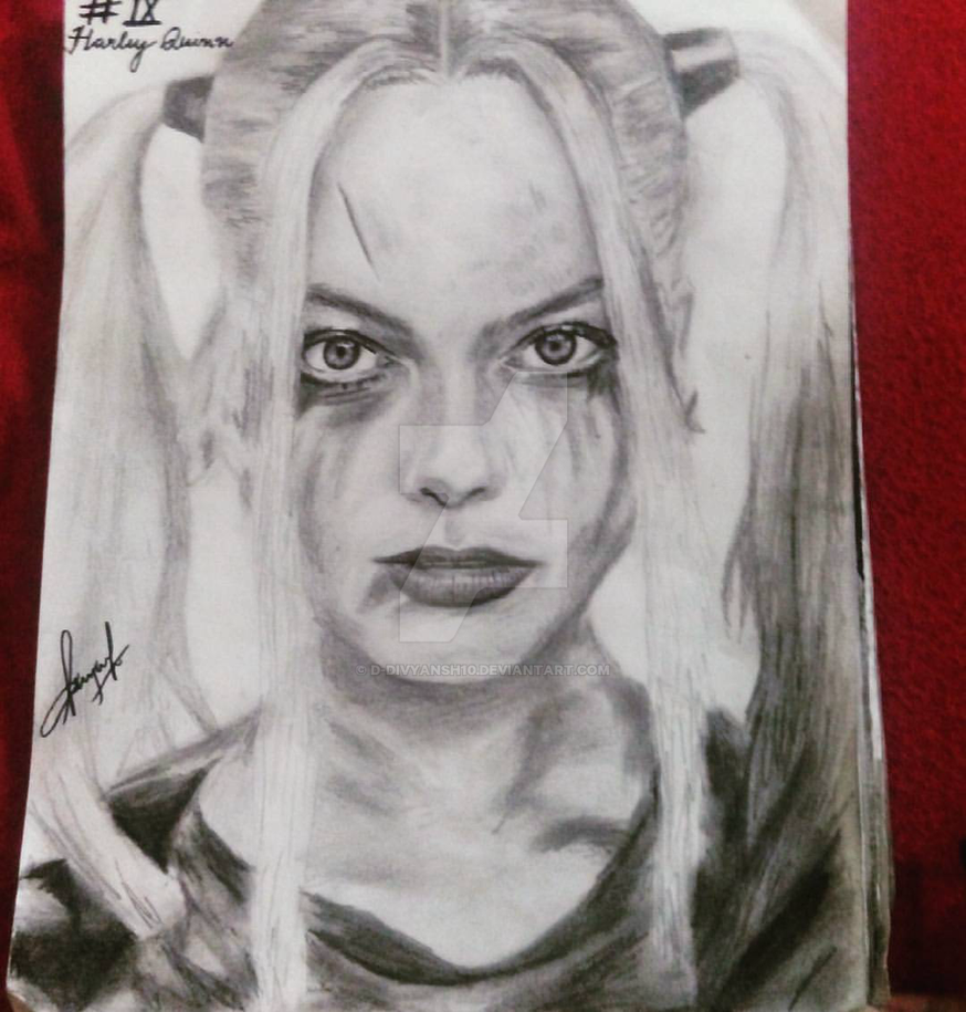 Harley quinnsuicide squad pencil sketch by d divyansh10 on deviantart