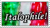 Italophile stamp! by statiqueSagitta