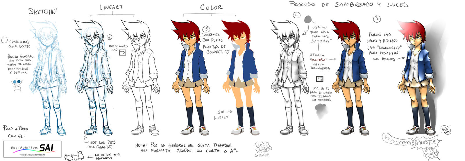 + Tutorial + Color y Sombras + by GummyGumBeat
