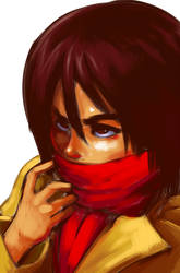 Mikasa Ackerman by GummyGumBeat