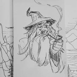 Gandalf the grey Lord of the Ring  by papablogueur