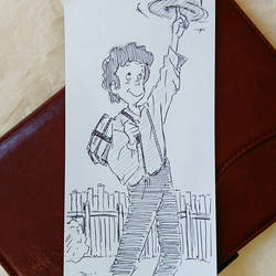 croquis Tom Sawyer  by papablogueur