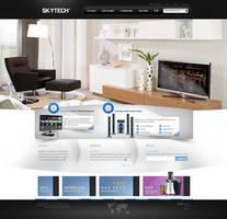 Skytech WebInterface Design by alisarikaya
