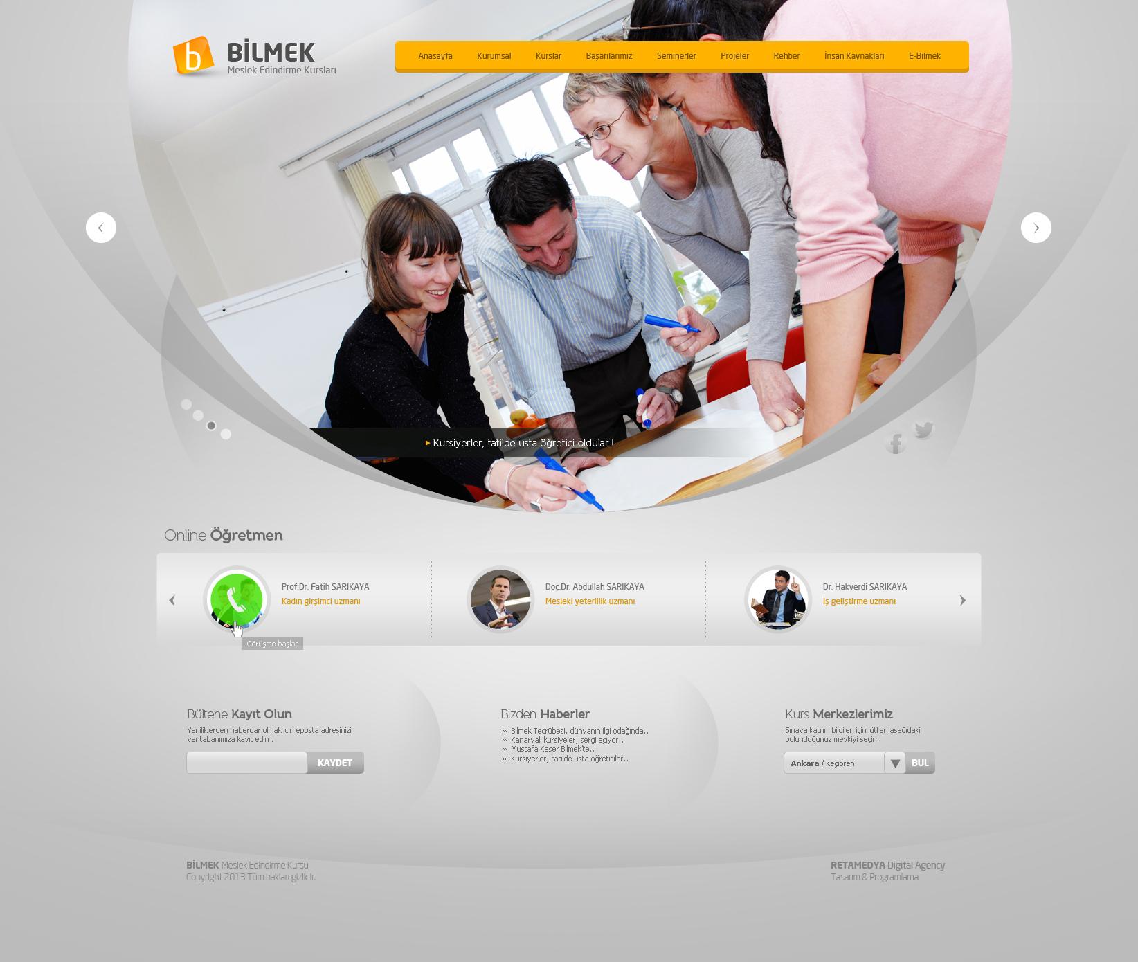 Bilmek Web Design by alisarikaya