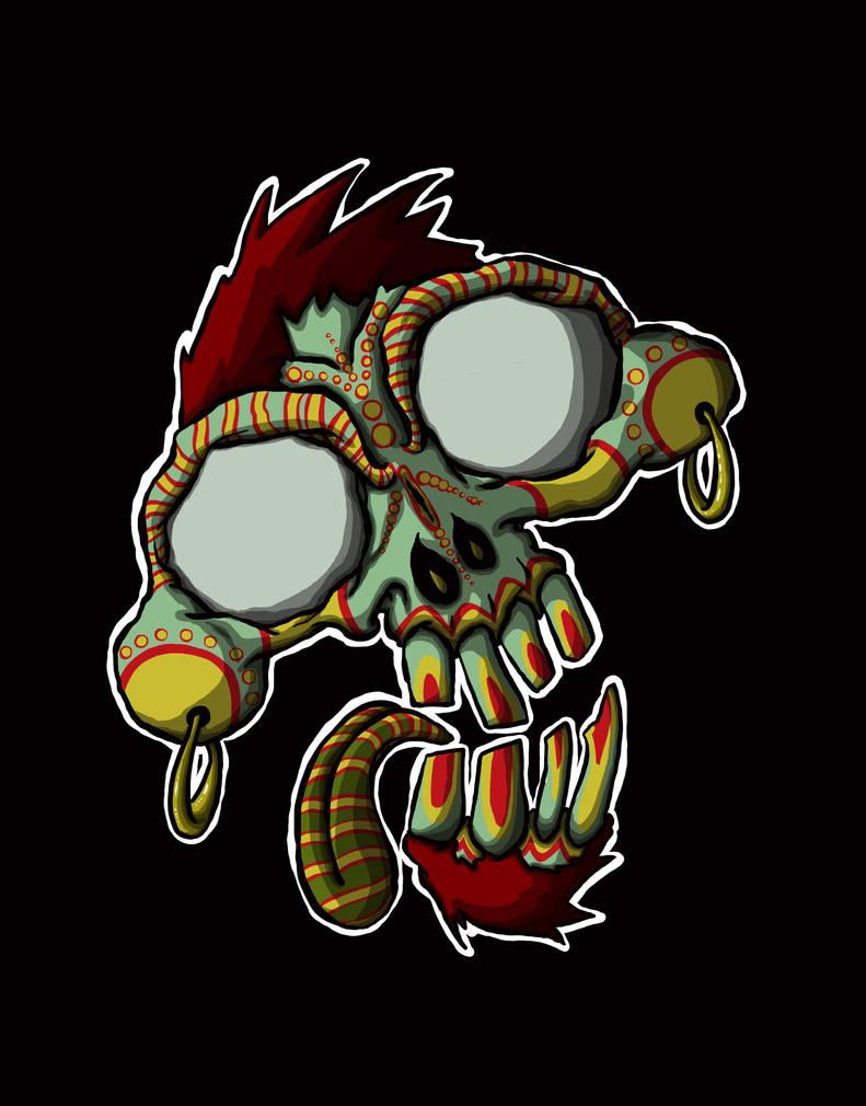 Monkey Skull by igeking