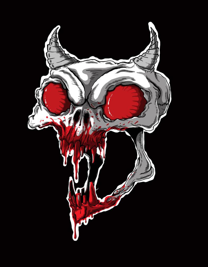 Bloody-Skull by igeking