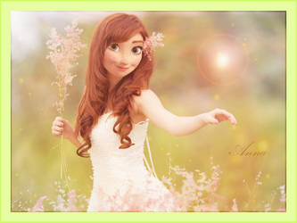 (Frozen) Anna Photo Manipulation by Kawaii-Ariana