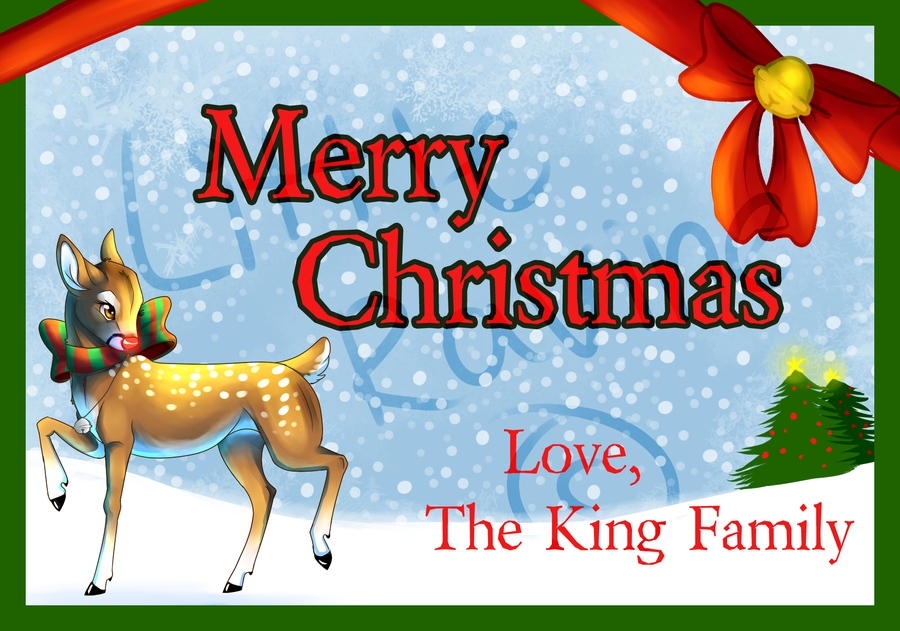 The King Christmas Card! by LittleRavine