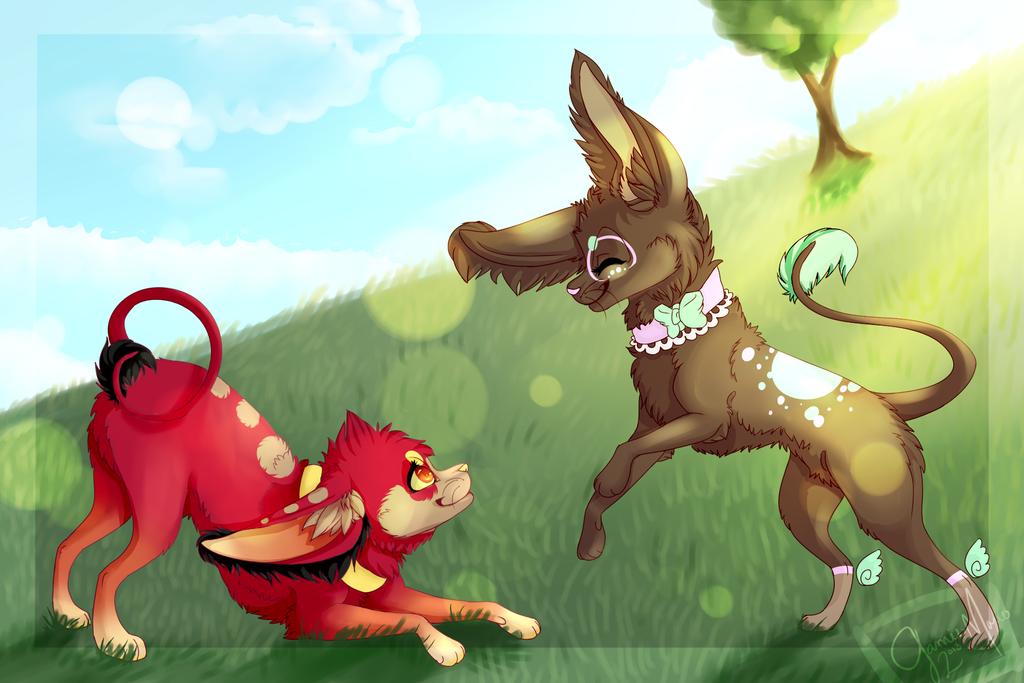 Ahskie fight! by LittleRavine