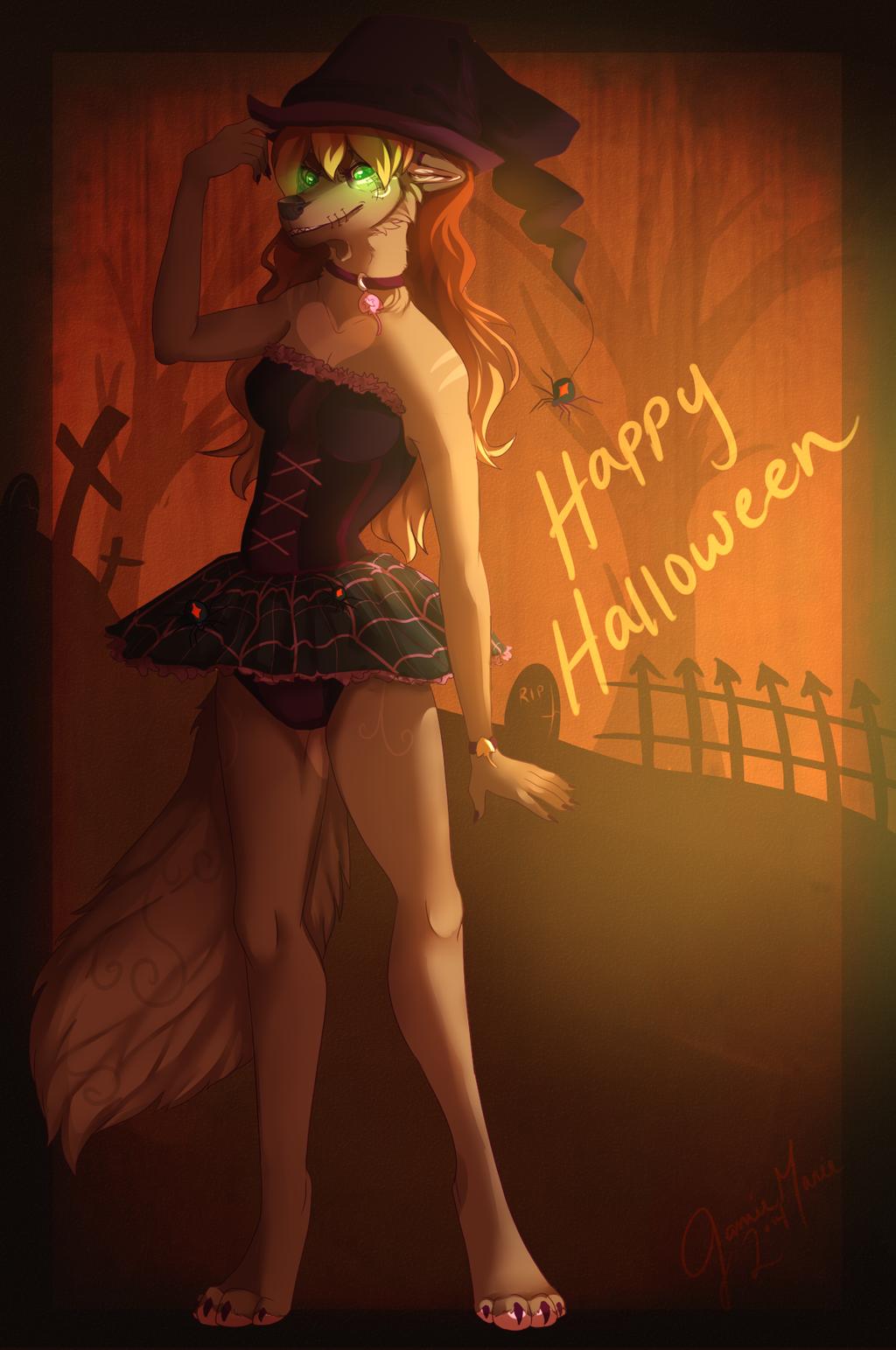 A Fluffy Halloween by LittleRavine
