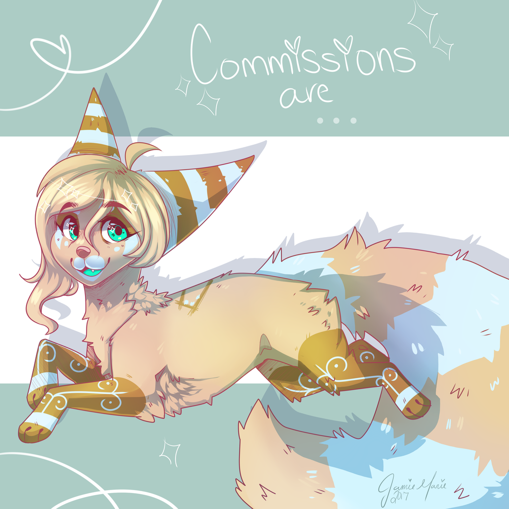 Commissions... OPEN! + SpeedPaint + my new style! by LittleRavine