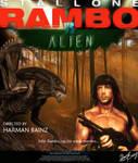 Rambo vs ALIEN Movie Poster