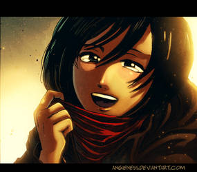 Mikasa by angieness