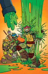 TMNT Animated Adventures #9 Cover by angieness