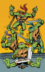 TMNT 30th Annivesary Pinup by angieness