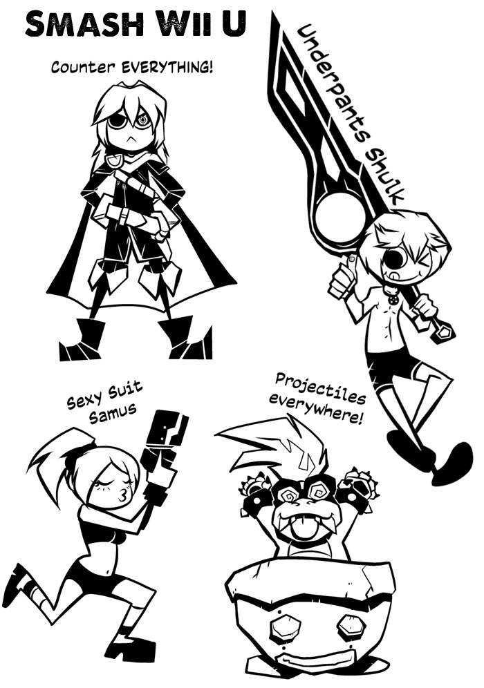 Smash Bros Mains by angieness