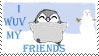I Wuv My Friends stamp by Phyrra