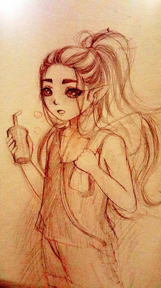 My sketch . ^ ^