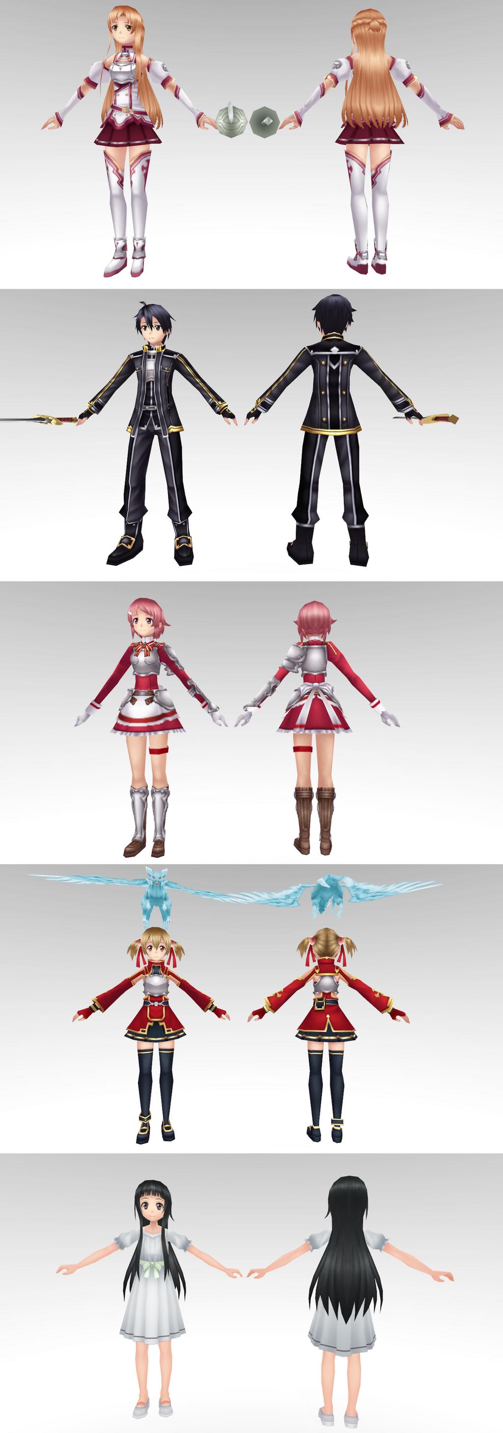Sword Art Online Model Pack 1 By Chocokobato On Deviantart