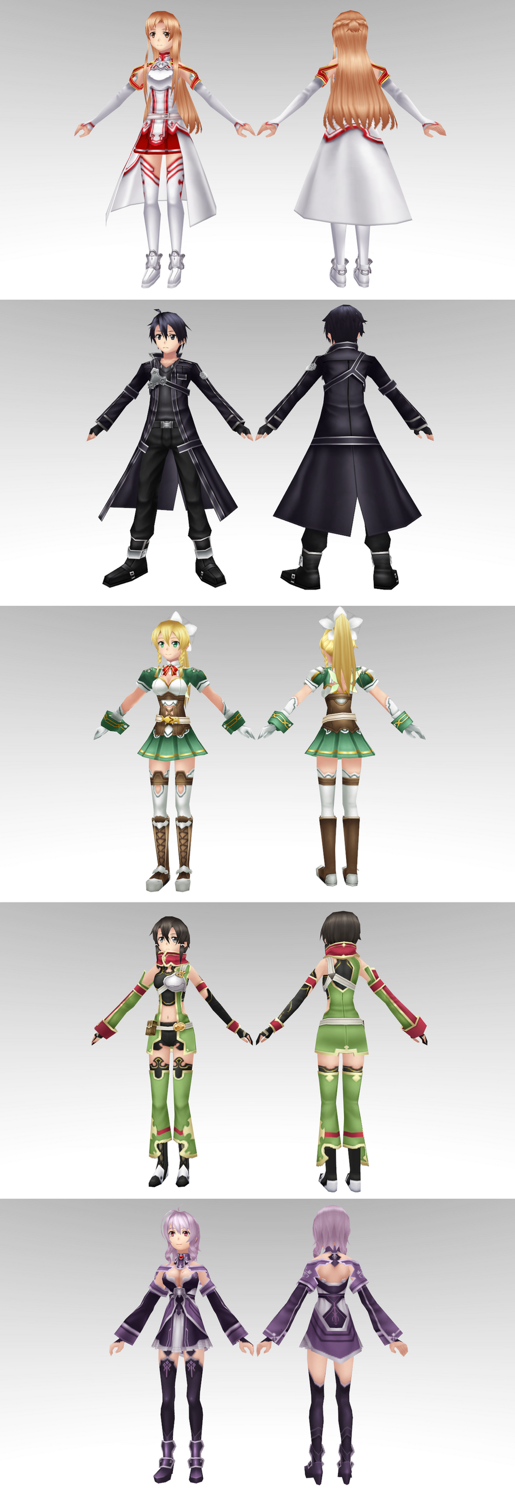 Sword Art Online Model Pack 2 By Chocokobato On Deviantart