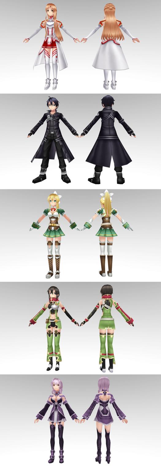 Sword Art Online Model Pack 2 By Chocokobato On Deviantart