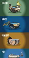 Overwatch heroes as lukewarm bowls of water #2