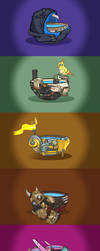 All Overwatch heroes as lukewarm bowls of water by Lukidjano