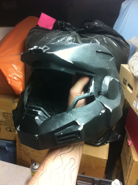 Halo - Bf's Noble 6 Helmet wip by Hyokenseisou-Cosplay