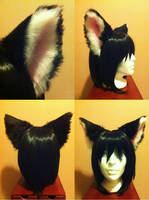 Ears - Black and pink cat by Hyokenseisou-Cosplay