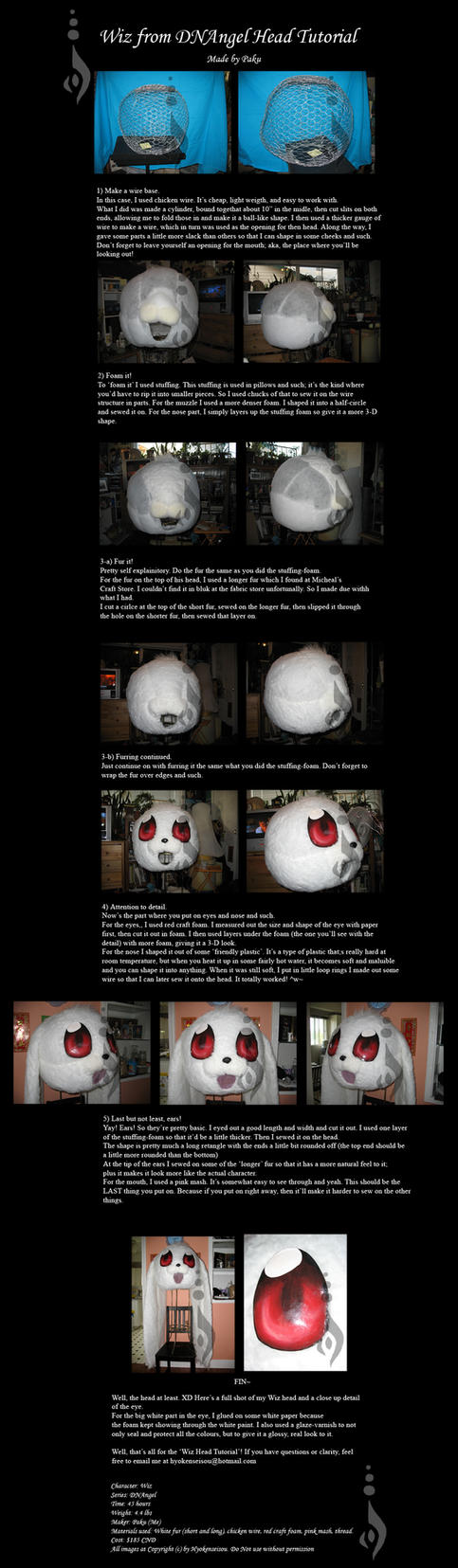 Wiz Head Tutorial by Hyokenseisou-Cosplay