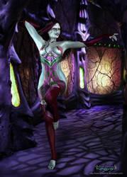 Wraith Queen Luna 3D in Hive by Luna-Fantasma