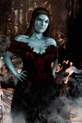 Red Wraith Queen CzarnaArcher by Luna Fantasma by Luna-Fantasma