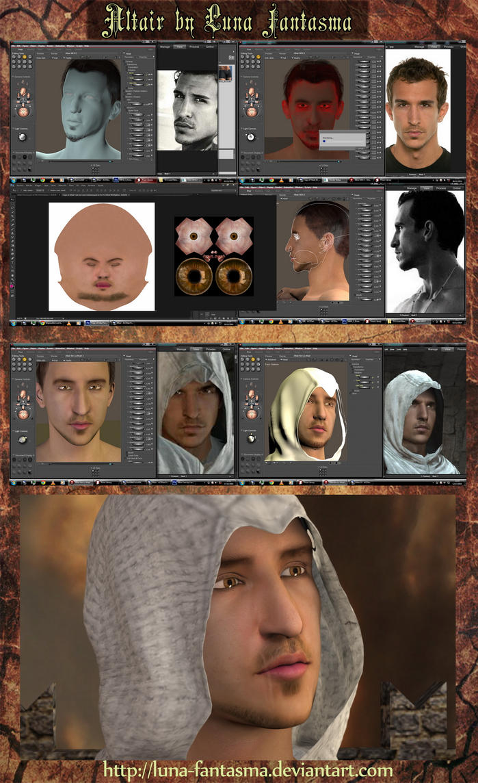 Altair Process Assassin's Creed by Luna Fantasma by Luna-Fantasma